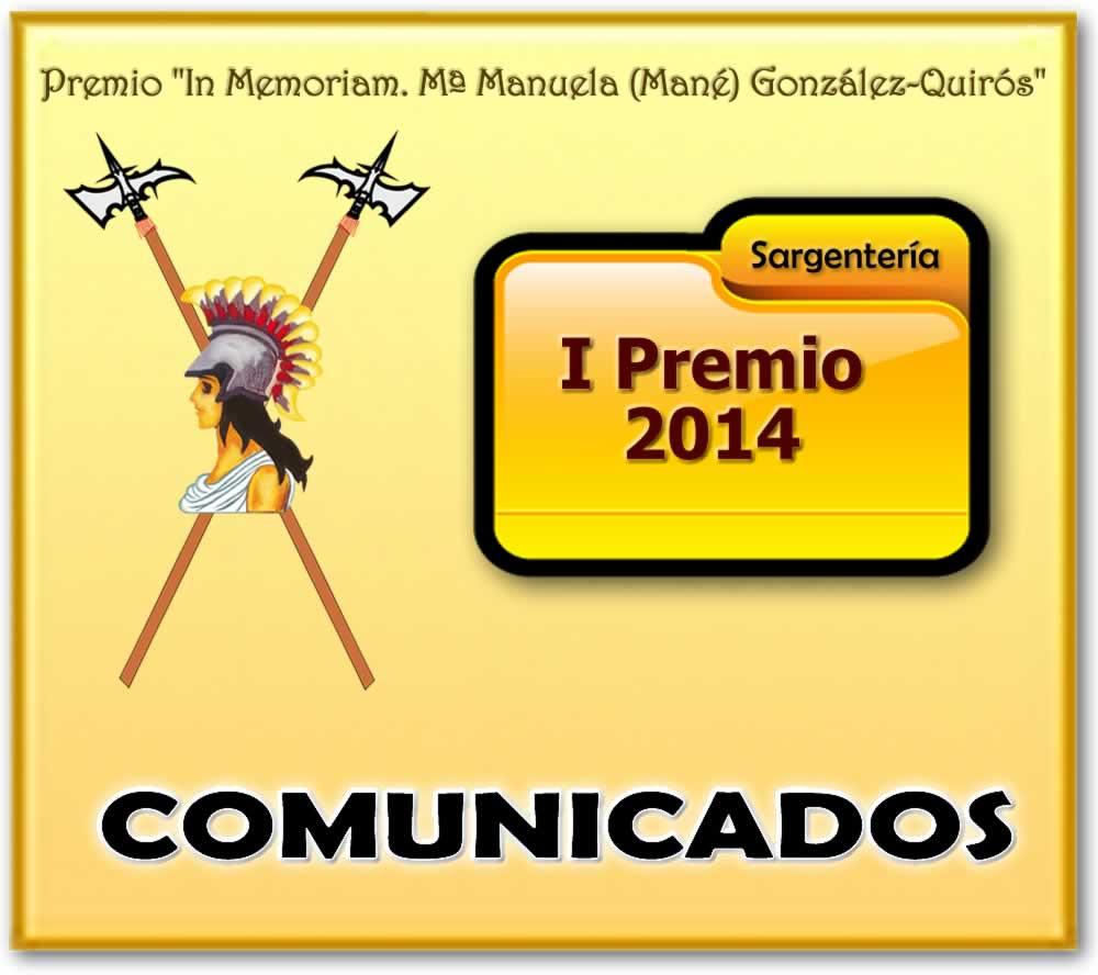 MANÉ. PREMIO. BANNER Comunicados 2014