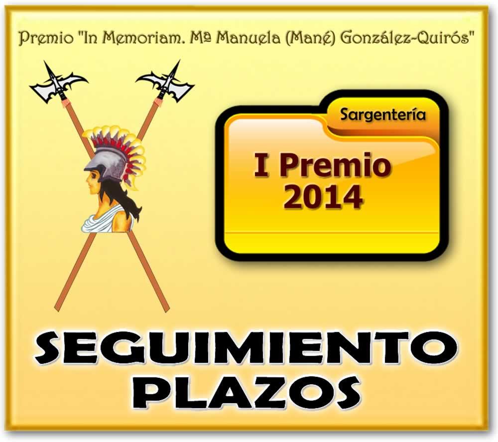 MANÉ. PREMIO. BANNER Seguimiento plazos 2014