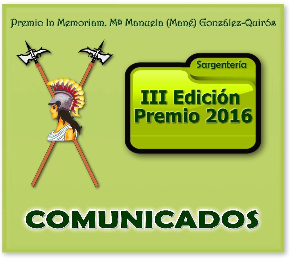 MANÉ. PREMIO. BANNER Comunicados 2016