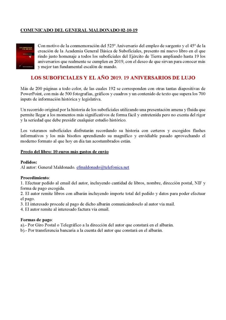 COMUNICADO DEL GENERAL MALDONADO 03