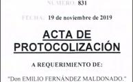 4/19. NUEVA ACTA DE PROTOCOLIZACIÓN 2020